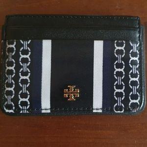 Tory Burch Black Gemini Link Slim Card Case